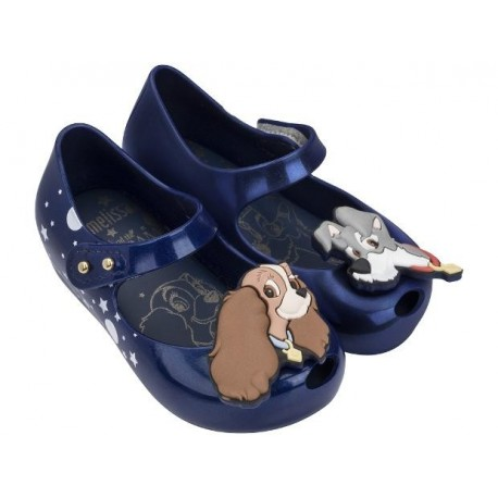 ULTRAGIRL + LADY AND THE TRAMP ME blue flat ballet flats for baby