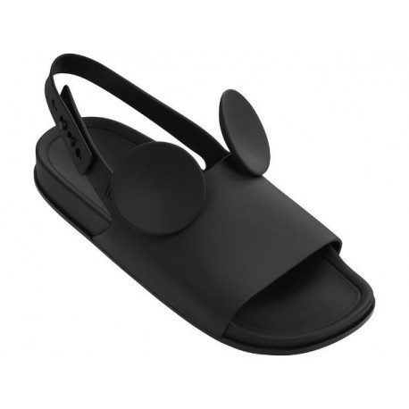 MELISSA BEACH SLIDE SANDAL + DISNEY AD 01003 BLACK NEGRO