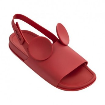 MELISSA BEACH SLIDE SANDAL + DISNEY AD 01371 RED ROJO