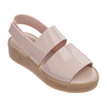 SOHO beige and pink platforms open sandals for woman