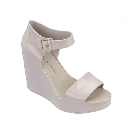MAR WEGDE beige wedge sandals for woman