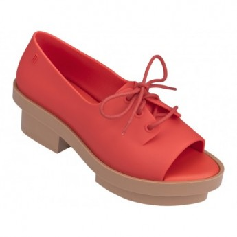 WANNA BE RIO brown and orange platforms closed ballet flats for woman