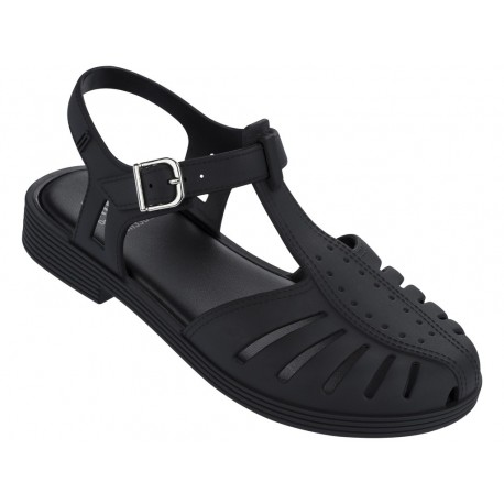 ARANHA 1979 black flat open sandals for girl