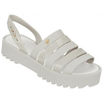 CREATIVES FLAT beige and white platforms roman sandals for woman
