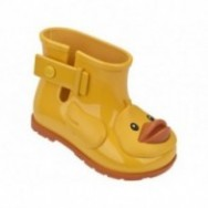 SUGAR RAIN II yellow flat closed boots for baby