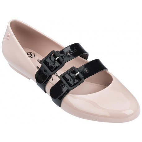 DOLL black and pink flat ballet flats for woman