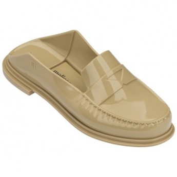 BEND beige flat open clogs for woman
