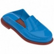 BEND blue and brown under open clogs for woman