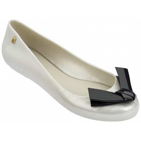 SPACE LOVE V black and white flat closed ballet flats for woman