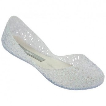 CAMPANA ZIG ZAG III transparent flat ballet flats for girl