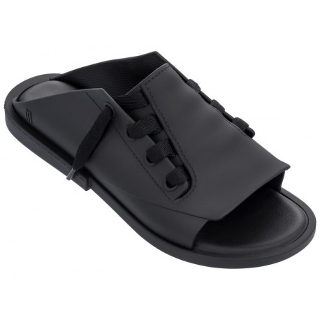 ULITSA black flat sandals for woman
