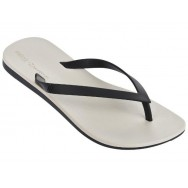 MELISSA + IPANEMA ipanema beige and black flat finger sandals for woman