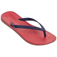 MELISSA + IPANEMA blue and red flat finger sandals for woman