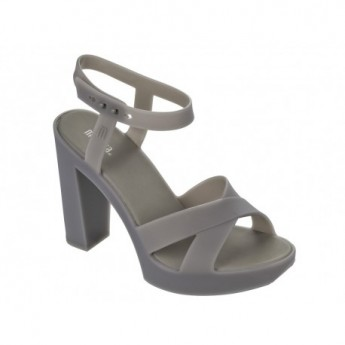 CLASSIC LADY grey with heel open sandals for woman
