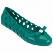 PRAIA green flat closed ballet flats for woman