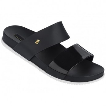COSMIC black flat open sandals for woman