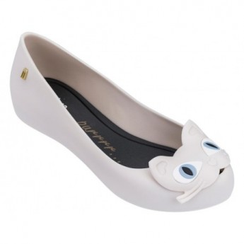 ULTRAGIRL CAT II beige and black flat closed ballet flats for woman