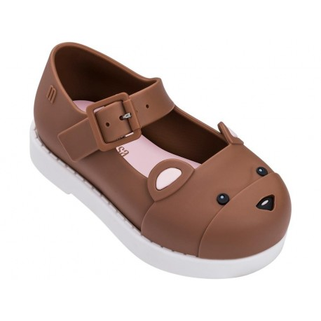 MAGGIE BEAR brown and white flat closed sandals for baby