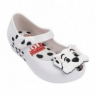 ULTRAGIRL + 101 DALMATIANS white flat closed ballet flats for baby