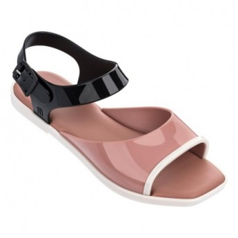 CRUSH beige and black sandals for woman