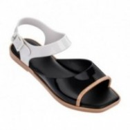 CRUSH black flat open sandals for woman