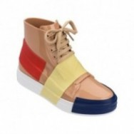 CREW love match beige and white flat sneaker sneakers for woman