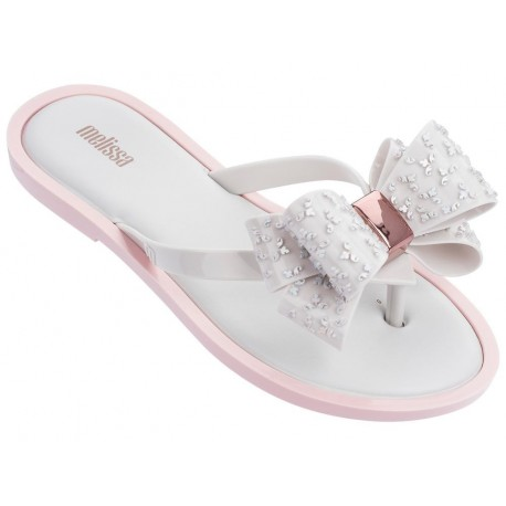 FLIP FLOP SWEET pink and white flat finger flip flops for woman