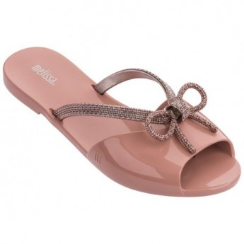 ELA CHROME pink flat flip flops for woman