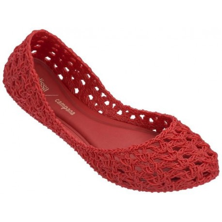 CAMPANA CROCHET hermanos campana red flat ballet flats for woman