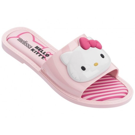SLIPPER + HELLO KITTY hello kitty chanclas abierto planas de mujer rosa
