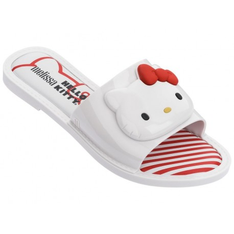 SLIPPER + HELLO KITTY hello kitty chanclas abierto planas de mujer blanco