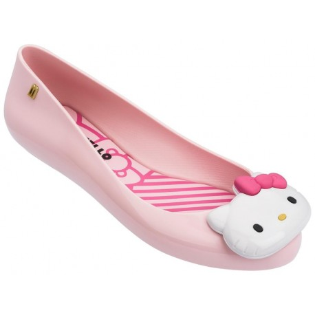 SPACE LOVE + HELLO KITTY pink flat ballet flats for woman