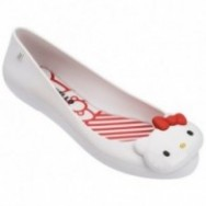SPACE LOVE + HELLO KITTY white flat closed ballet flats for woman