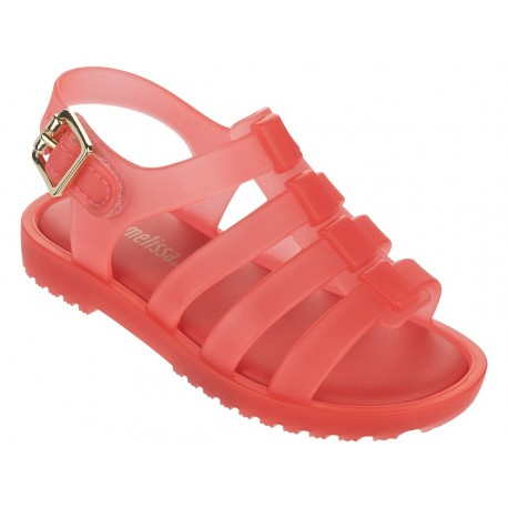 FLOX orange flat roman sandals for baby