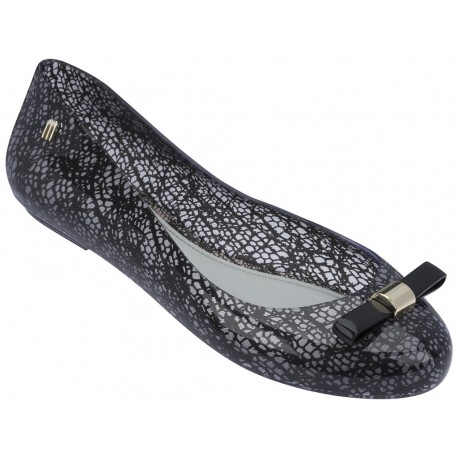 MELISSA SPACE LOVE + JASON WU AD 51608 CLEAR BLACK-TRANSPARENTE NEGRO