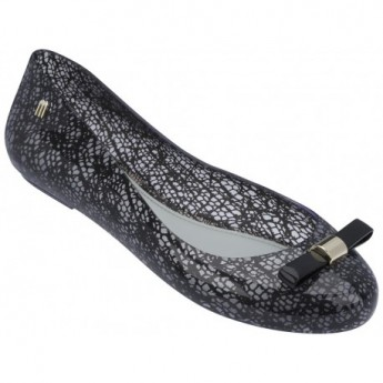 SPACE LOVE + JASON WU jason wu black fantasy print flat closed ballet flats for woman