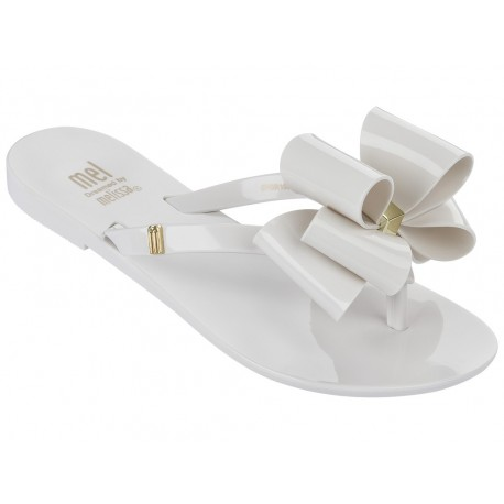 HARMONIC white flat finger sandals for girl