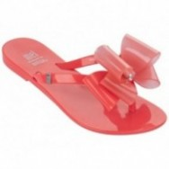 HARMONIC orange flat finger sandals for girl