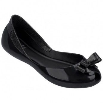 QUEEN black flat closed ballet flats for girl