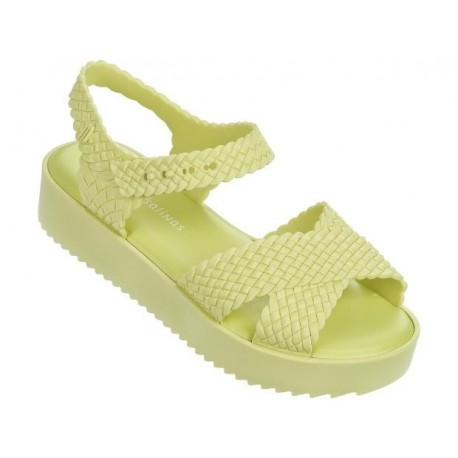 HOTNESS + SALINAS salinas yellow platforms sandals for woman