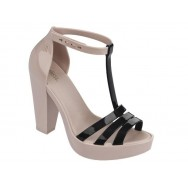 DREAMY black and pink with heel sandals for woman