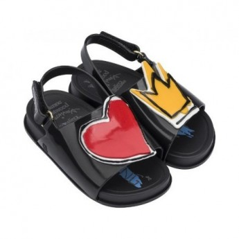 VIVIENNE WESTWOOD ANGLOMANIA + MINI BEACH vivienne westwood black flat open sandals for baby