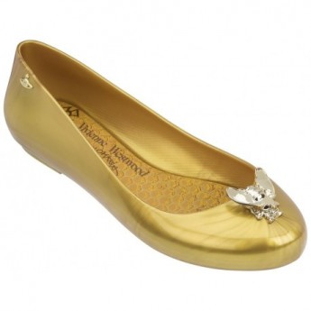 SPACE LOVE V vivienne westwood gold fantasy print flat ballet flats for woman