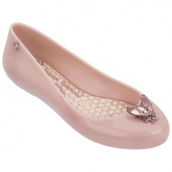 SPACE LOVE V vivienne westwood pink fantasy print flat ballet flats for woman