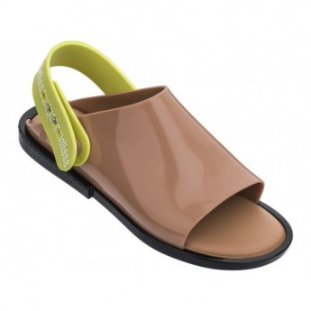 TWIST black and brown flat sandals for woman