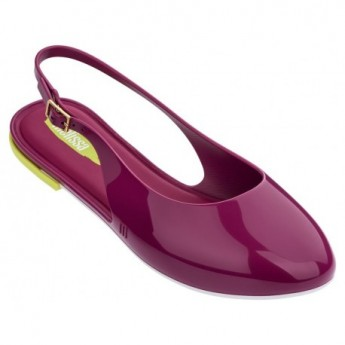 LIPSTICK purple flat open sandals for woman