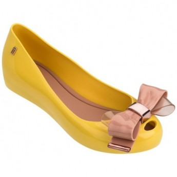ULTRAGIRL SWEET XVII pink and yellow flat closed ballet flats for woman