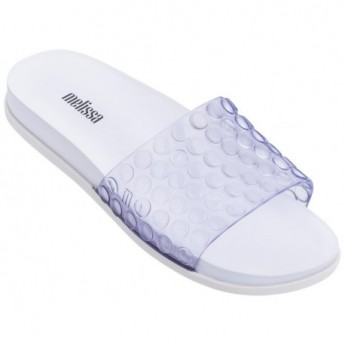 POLIBOLHA white flat shovel flip flops for woman
