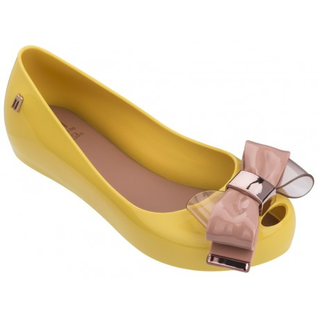 ULTRAGIRL SWEET V yellow flat closed ballet flats for girl