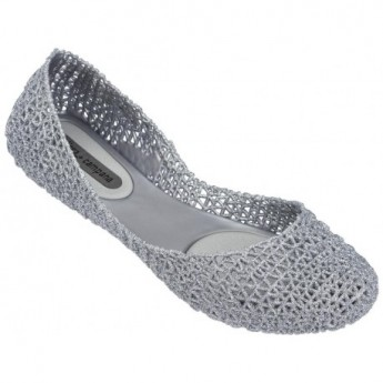 CAMPANA PAPEL VII silver flat closed ballet flats for woman